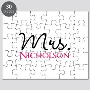Customizable Name Mrs Puzzle